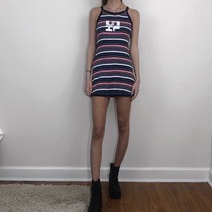UNIF red white and blue striped dress <3